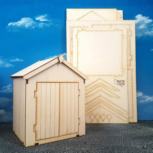 Build a beach hut 1:16 model kit