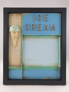 96togo Ice cream front - Mint - green & blue
