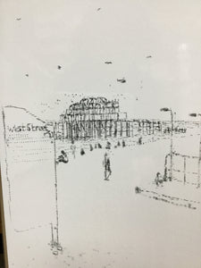 Keira Rathbone Print- Skeleton Pier - Brighton West Pier