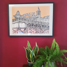 Load image into Gallery viewer, Jo Peel Brighton Print - FRAMED