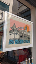Load image into Gallery viewer, Jo Peel - Brighton Rocks Five Colour Screen Print FRAMED in White
