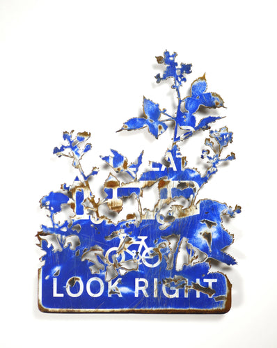 Dan Rawlings - 'Look Right' Hand-cut steel with enamel paint.