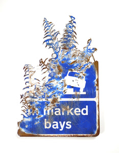 Dan Rawlings - 'Marked Bays' Hand-cut steel with enamel paint.