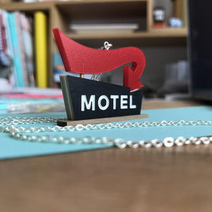 Tiny Scenic - Motel Necklace Red