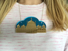 Load image into Gallery viewer, Pavilion & Blue Sky Necklace - Made by Lauren's Art