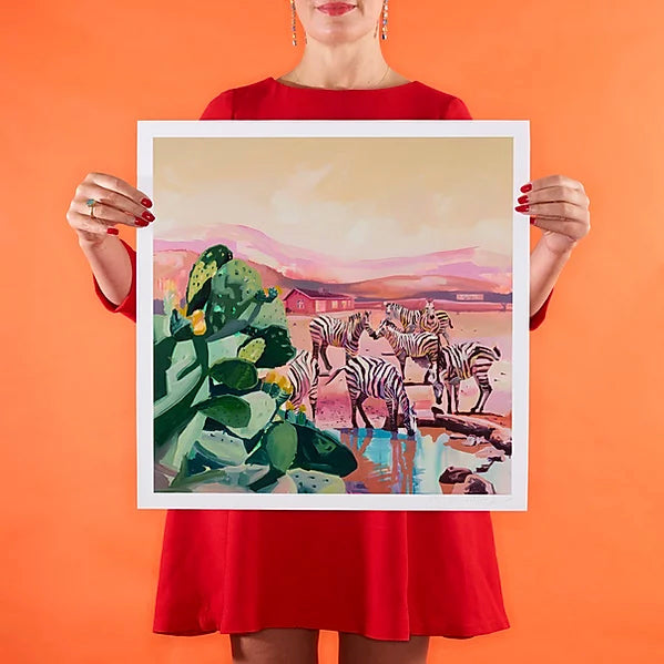 Ruth Mulvie - Pink Sands - Small - Giclee Print UNFRAMED