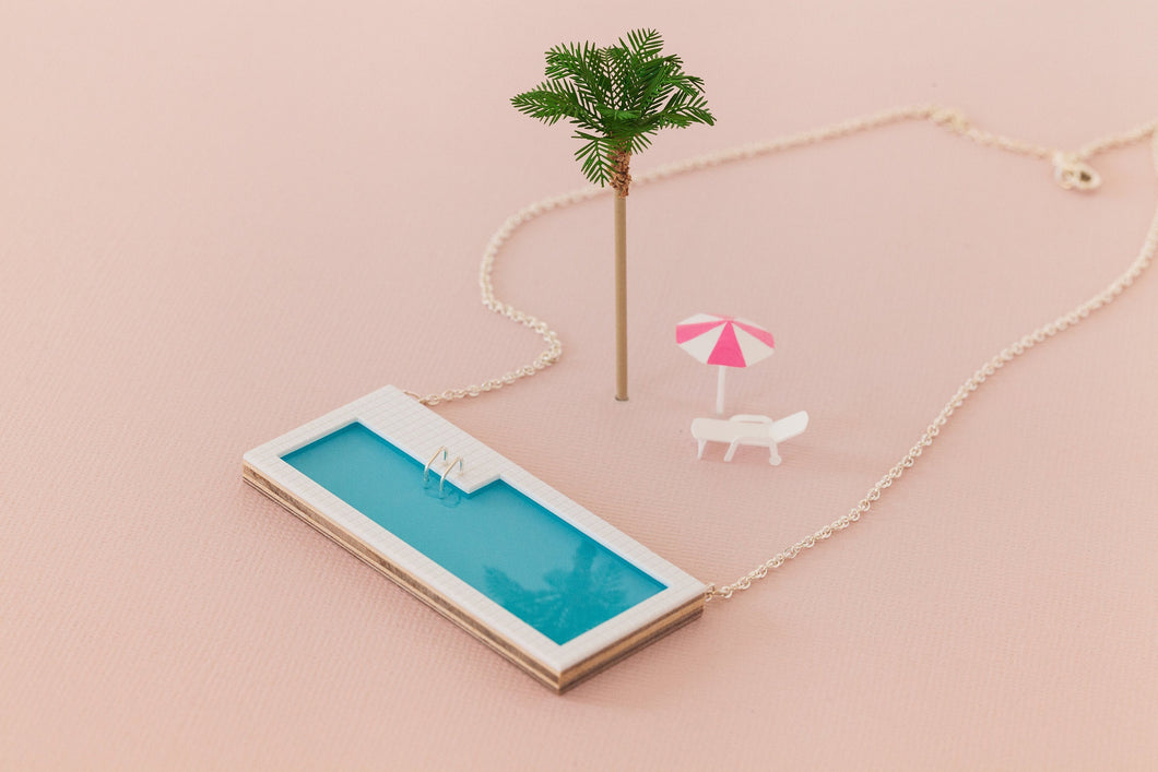 Tiny Scenic - Swimming Pool Necklace