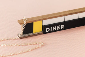Tiny Scenic - Wooden Diner Necklace
