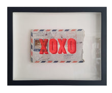 Load image into Gallery viewer, XOXO on Airmail Envelope framed - Dave Buonaguidi
