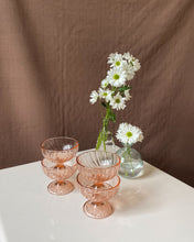 Load image into Gallery viewer, Rose Arcoroc Dessert Glasses | set of 4