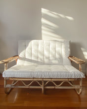 Load image into Gallery viewer, Cane Two Seater w/ white cushions