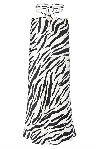 Zebra Wrapped Tie Skirt