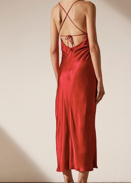 Wright Ruched Backless Slip Dress