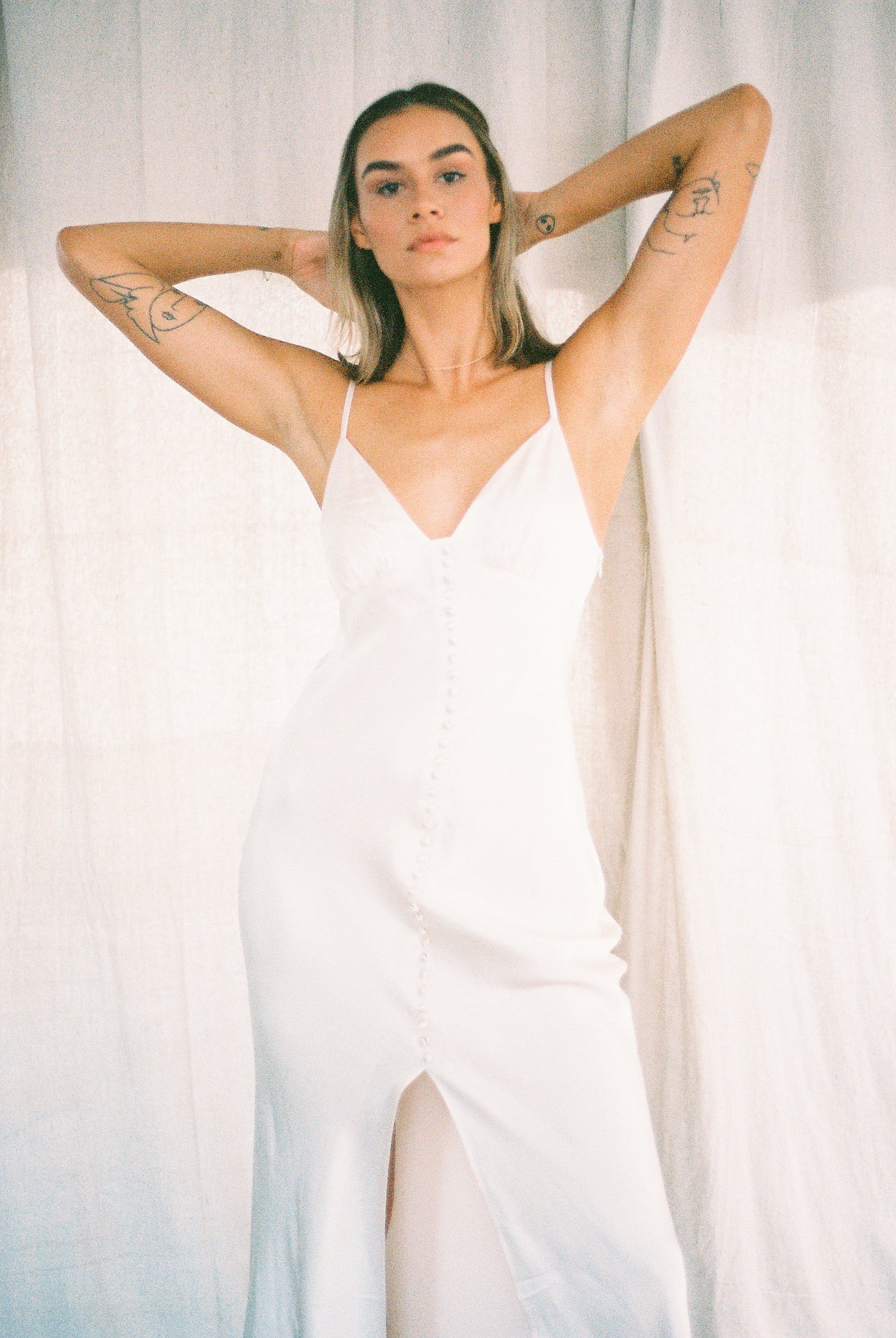 La Lune Bias Slip Dress