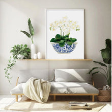 Load image into Gallery viewer, Hamptons Style Prints  - Magnolias and Orchids 50 x 70 cm (Unframed)  (Set)