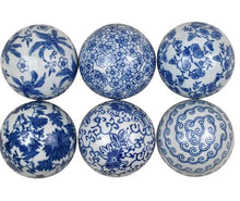 Load image into Gallery viewer, Blue and White Ceramic Balls (price is for one)