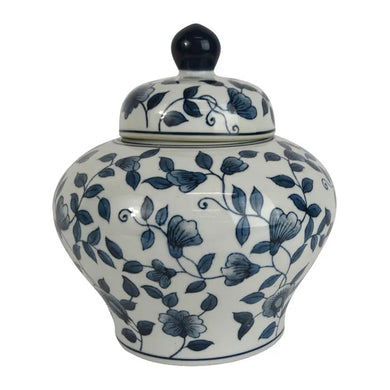 Hamptons Style Blue and White Porcelain Ginger Jar