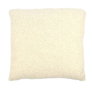 Beige Soft Wool Cushion