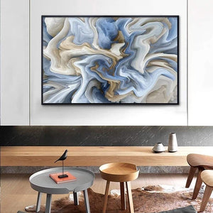 Marbled in Blue 50 x 70 cm  (Unframed)