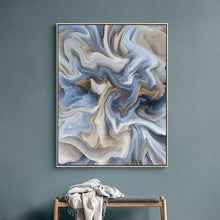 Load image into Gallery viewer, Marbled in Blue 50 x 70 cm  (Unframed)