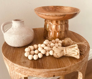 Freja Wood Footed Bowl