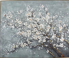 Load image into Gallery viewer, Sakura Cherry Blossom Oil Painiting (Framed - Oak)  (100cm x 120cm)