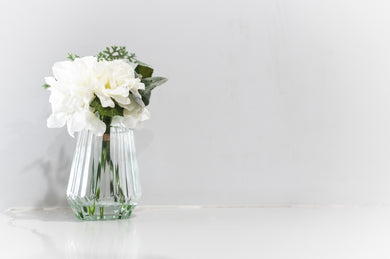 Hamptons Style Decor - White Bouquet & Vase
