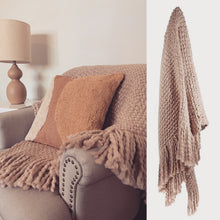 Load image into Gallery viewer, Carin Wool Blend Throw in Blush