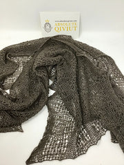 100% Qiviut-Ultimate Qiviut Scarf- Natural