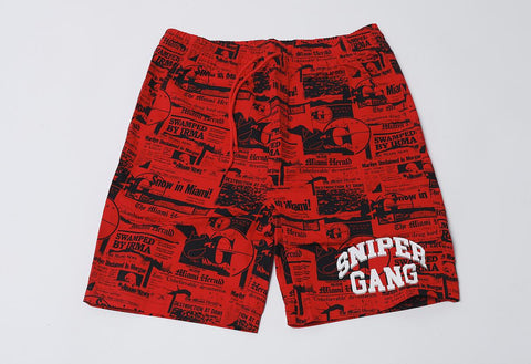SG Headlines Shorts (Red)
