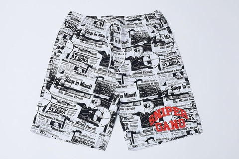 SG Headlines Shorts (White)