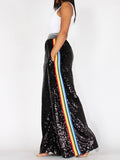 SEQUIN SIDE STRIPE PLUS SIZE
