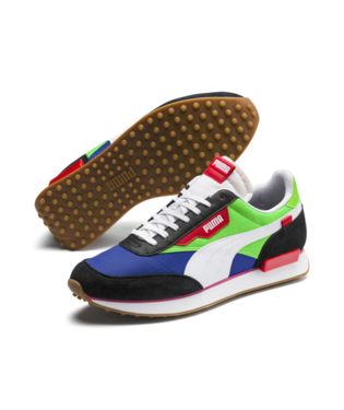 PUMA BLACK-FLUO GREEN-DAZZLING BLUE