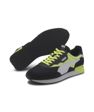 PUMA BLACK-FIZZY YELLOW FUTURE RIDER NEON PLAY