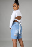 Mind In The Clouds Denim Shorts