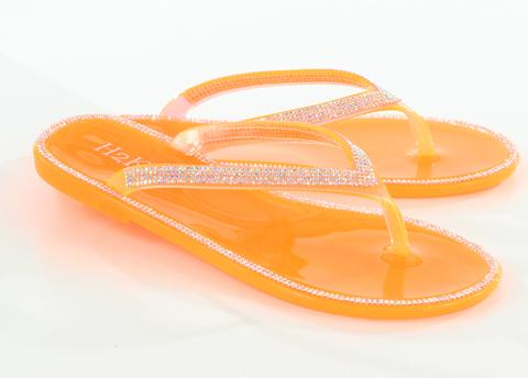 Jelly Flip Flops Orange