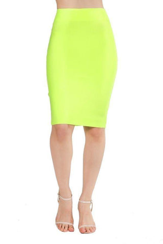 PENCIL NEON BANDAGE SKIRT