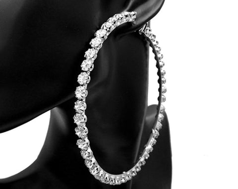 Rhinestone Big Hoop Earring