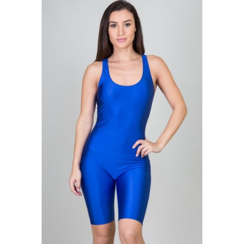 SLEEVELESS ONE PIECE ROYAL JUMPSUIT ROMPER