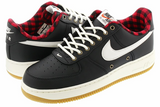 Nike Air Force 1 Black/Sail Action Red Gum Light