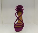 QUPID DIAMOND VIOLET SUEDE HEELS