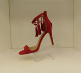 QUPID GRAMMY RED SUEDE HEELS