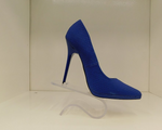 QUPID RAND COBALT BLUE SNAKE PUMPS