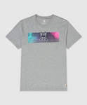 MENS CROMPTON GRAPHIC TEE SHIRT - HEATHER GREY