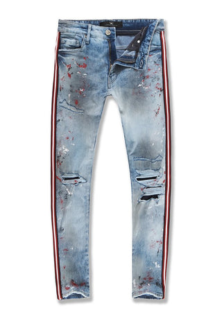 SEAN - SPARTA STRIPED DENIM (CARMINE)