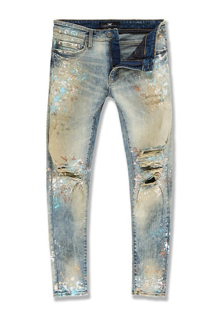 BIG MEN'S AARON CHICAGO DENIM (DESERT STORM)