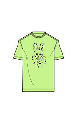 MENS ALEXANDER GRAPHIC TEE - 323 electric lime