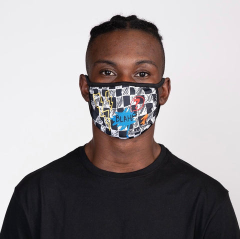 Smoke Rise Blah Face Fashion Mask