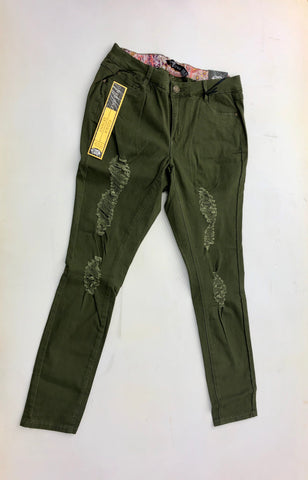 Olive Distressed Pants