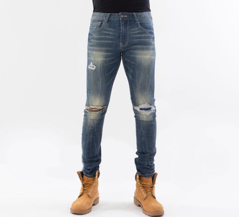 Smoke Rise Jeans W/ Open Knee